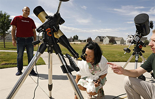 Community partnership telescope image